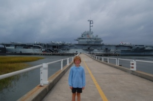 Julian at USS Yorktown