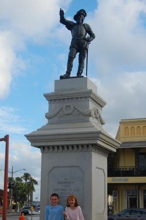 Ponce de Leon statue, St Augustine, FL